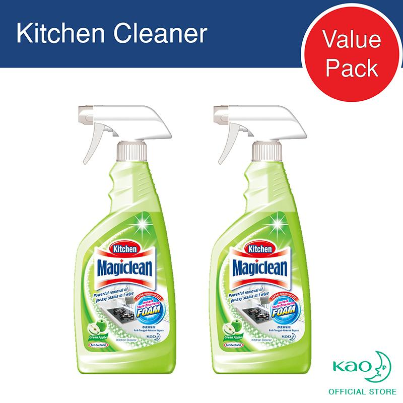 Magiclean Kitchen Trigger Green Apple 500ml (set Of 2) By Kao.