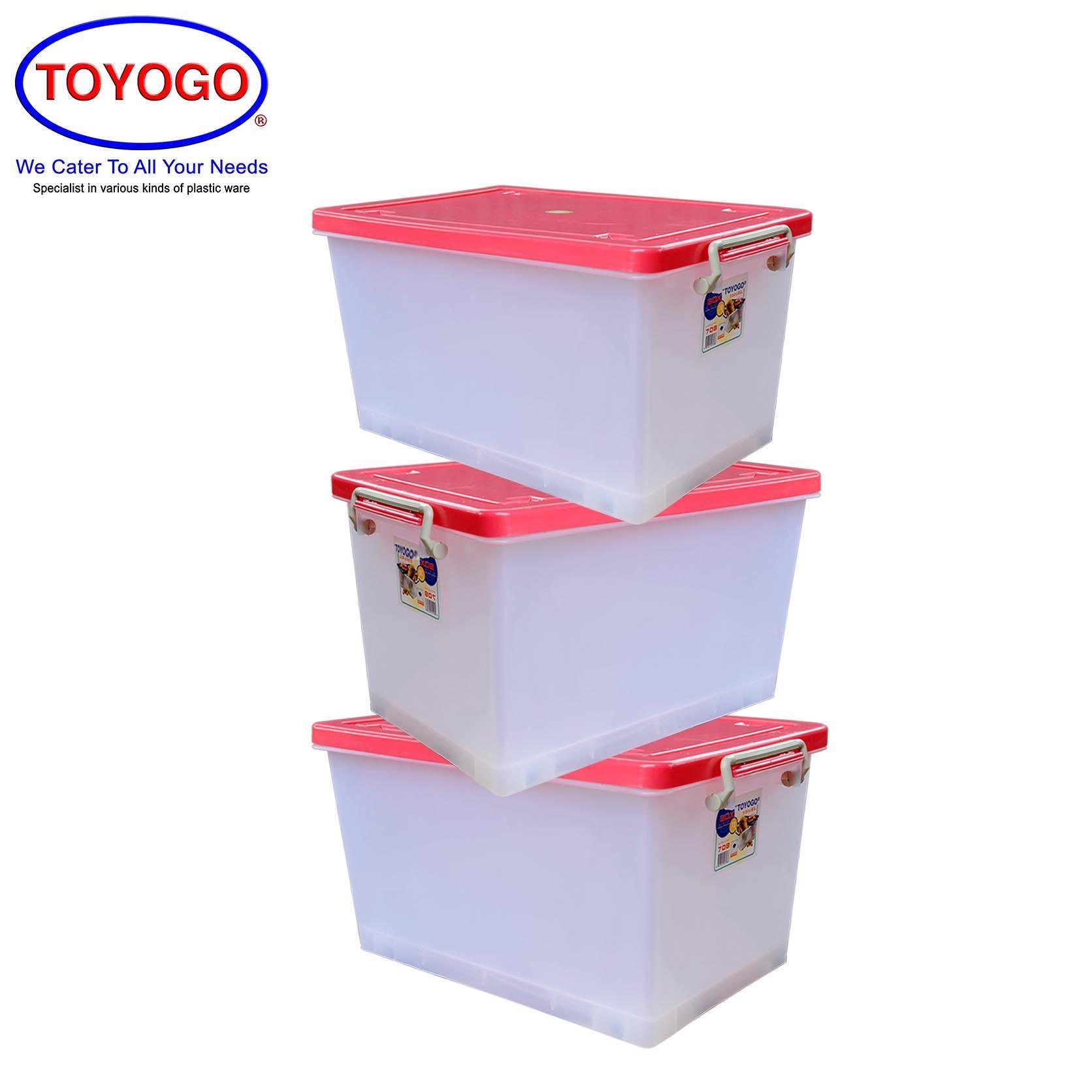 Toyogo Storage Box With Wheels (Bundle of 3) (708)
