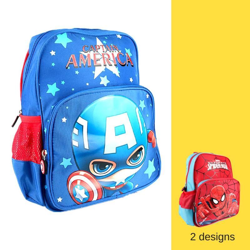 Nursery Kids School Bag Captain America Spiderman