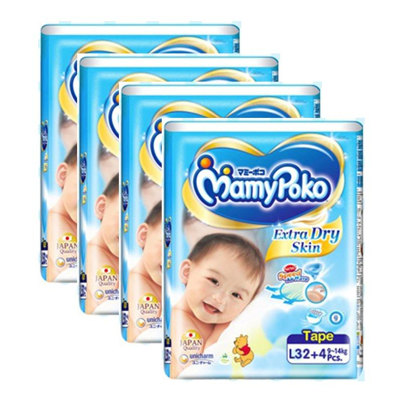 Compare Prices For Mamy Poko Open Jumbo Tape Diapers L 32 4 Pieces X 4 Packs