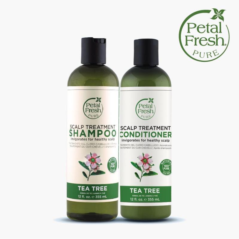 Buy [PETAL FRESH] SCALP TREATMENT SHAMPOO & CONDITIONER- TEA TREE (355ML) Singapore