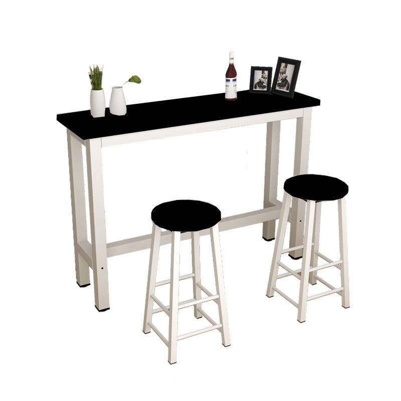 JIJI Longines Dining Bar Table with Leg Rest (Free Installation & 1 Year Warranty) - Bar Dining Furniture / Tables / Sets (SG)