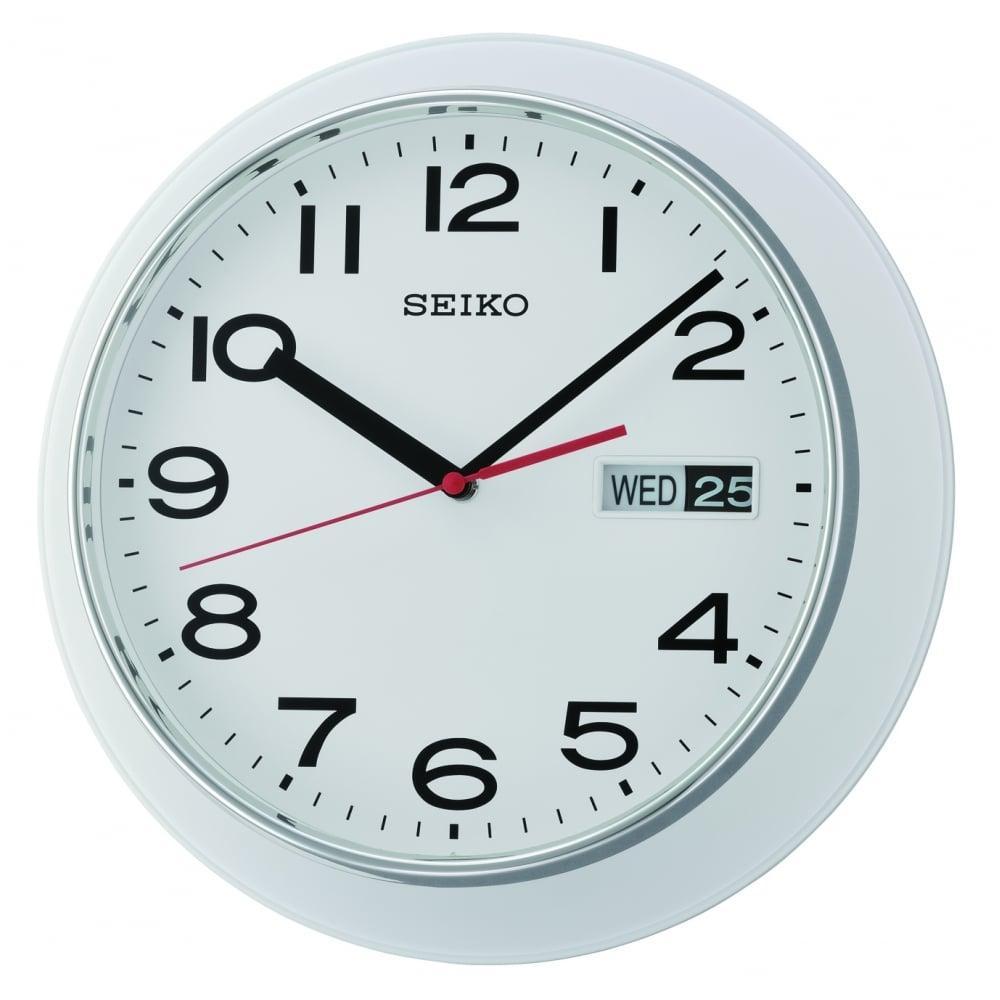 Seiko QXF102H QXF102HN Day & Date Calendar Wall Clock