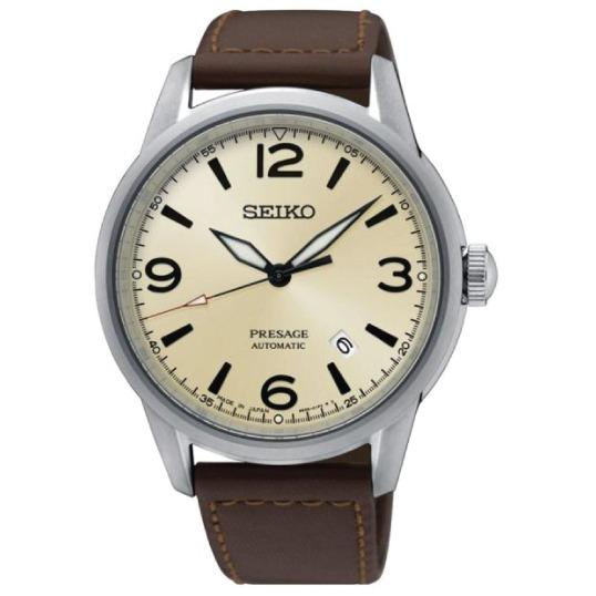 Discounted Seiko Presage Japan Made Automatic Brown Leather Strap Watch Srpb63J1