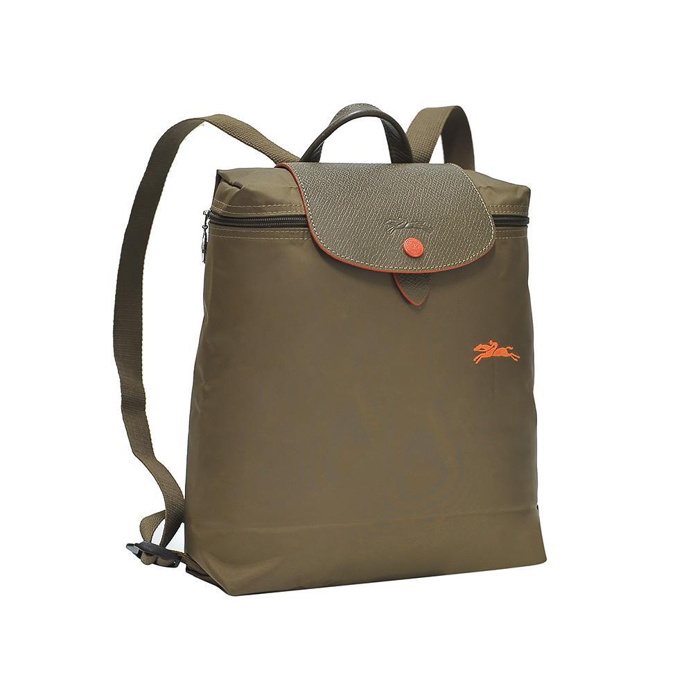 5fe619dd9cdf7 Longchamp Khaki Le Pliage Club Backpack