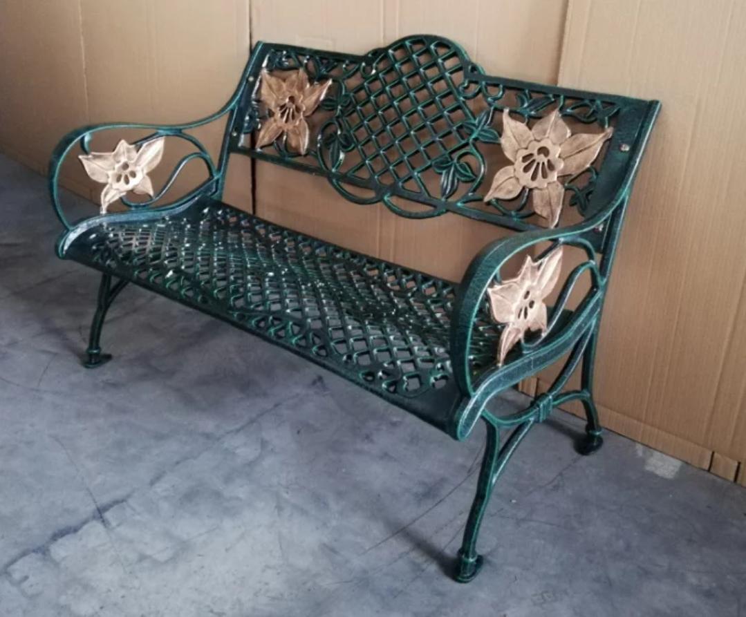 PanJa Twin Orchid Aluminium Coated Bench