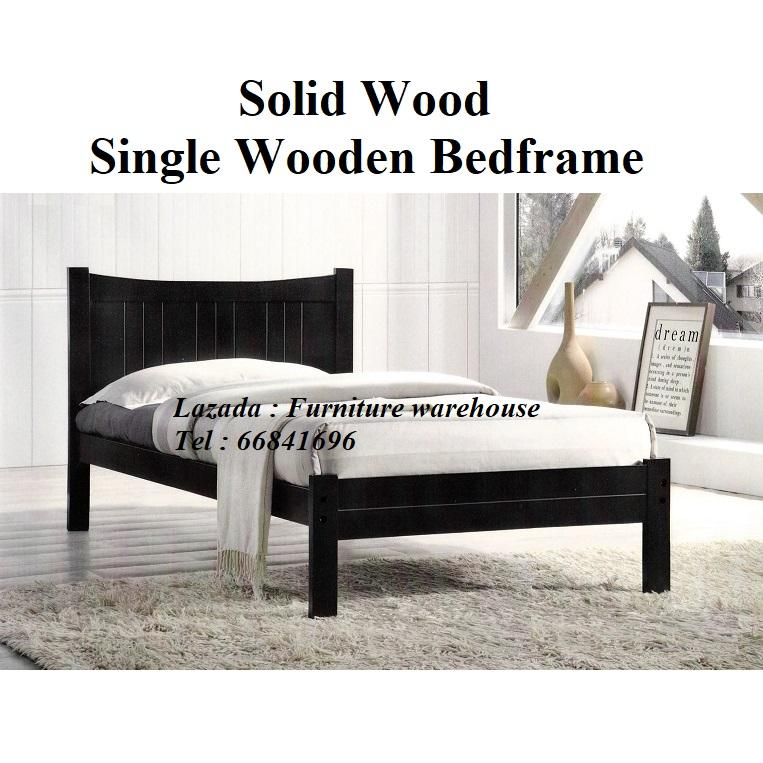 Fiona Single Wooden Bedframe - By Furniture warehouse