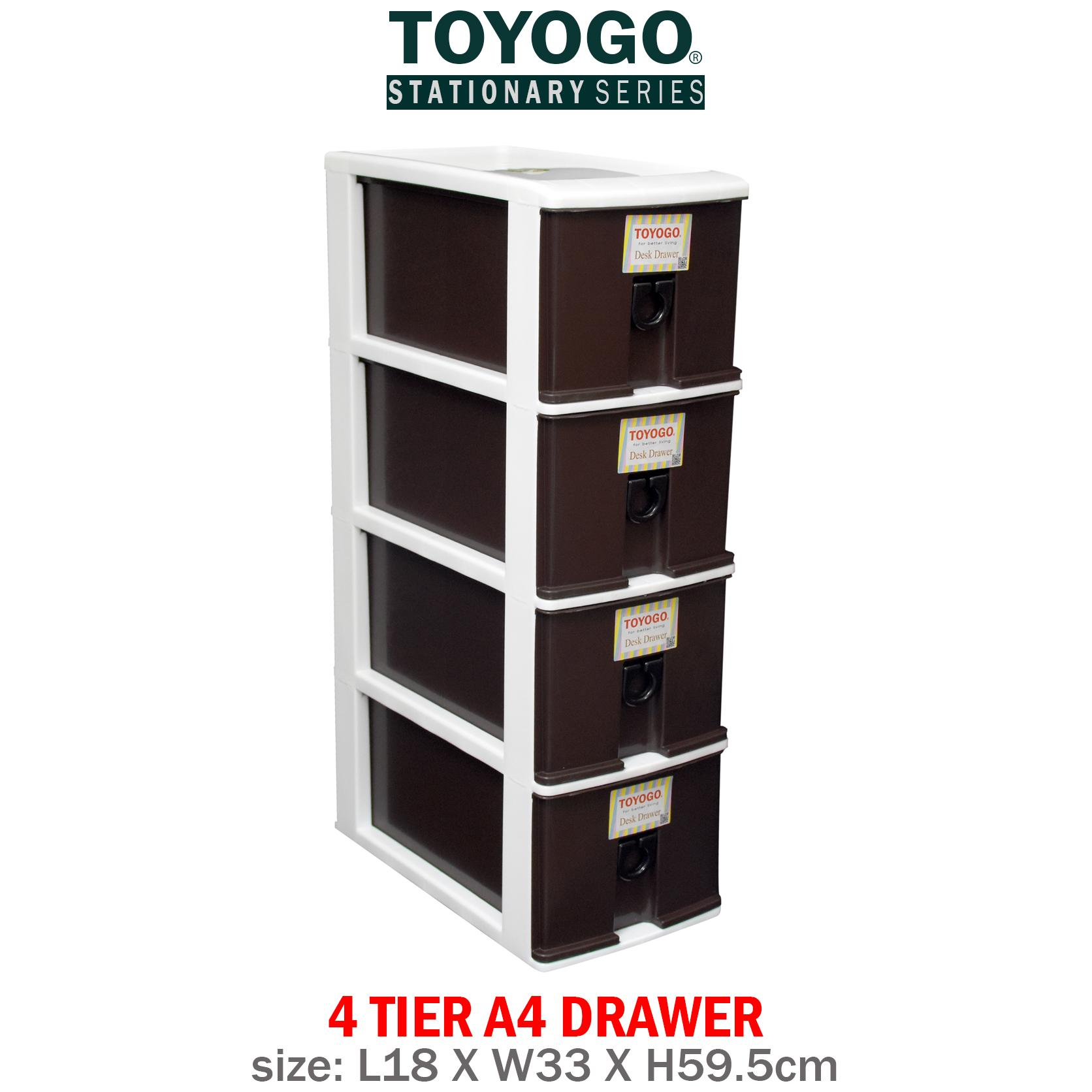 [302-4]TOYOGO - PLASTIC CD DRAWER STORAGE