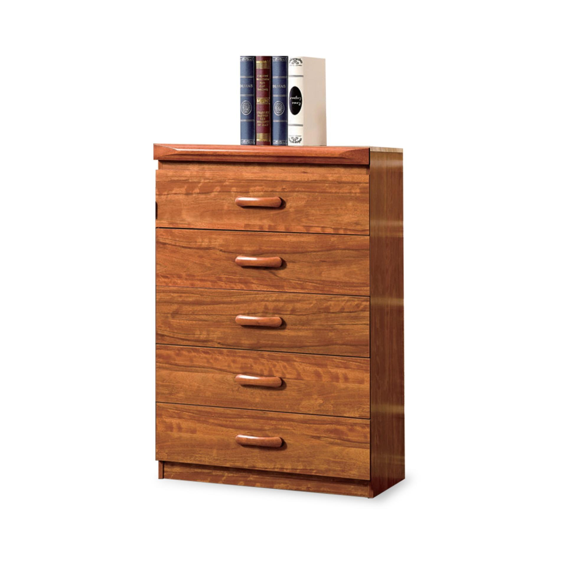 Modeste Chest Of 5 Drawers With Flip-Up Mirror (FREE DELIVERY)(FREE ASSEMBLY)