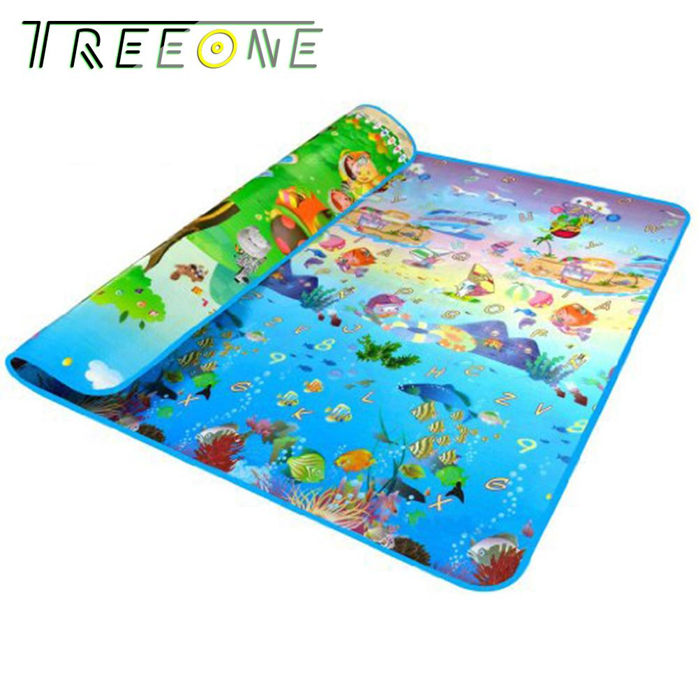 Promo Baby Crawling Mat Both Sides Baby Toy Play Mat Carpet Child Game Pad Sea Animal