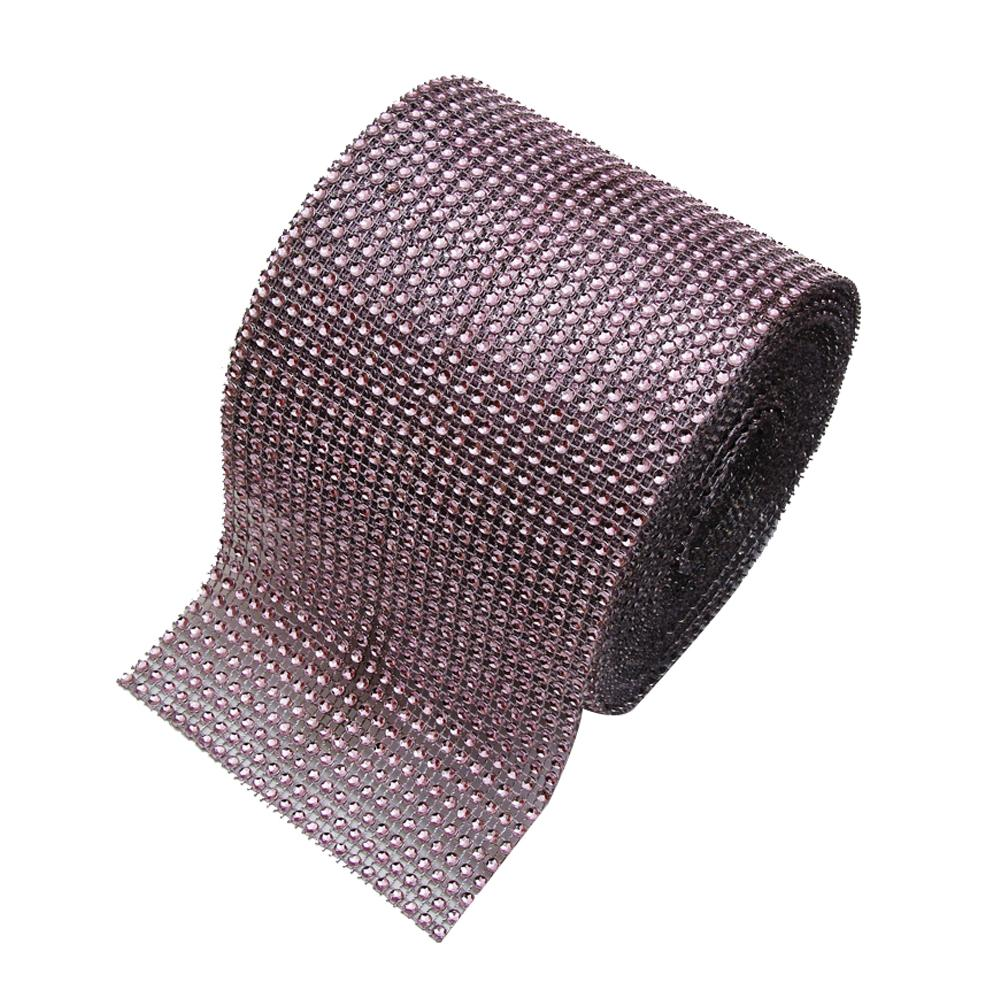 Diamond Rhinestone Ribbon Wrap Bulk 4.6 inches width,Wedding Party Decorations Color:Light Pink Size:10 yards