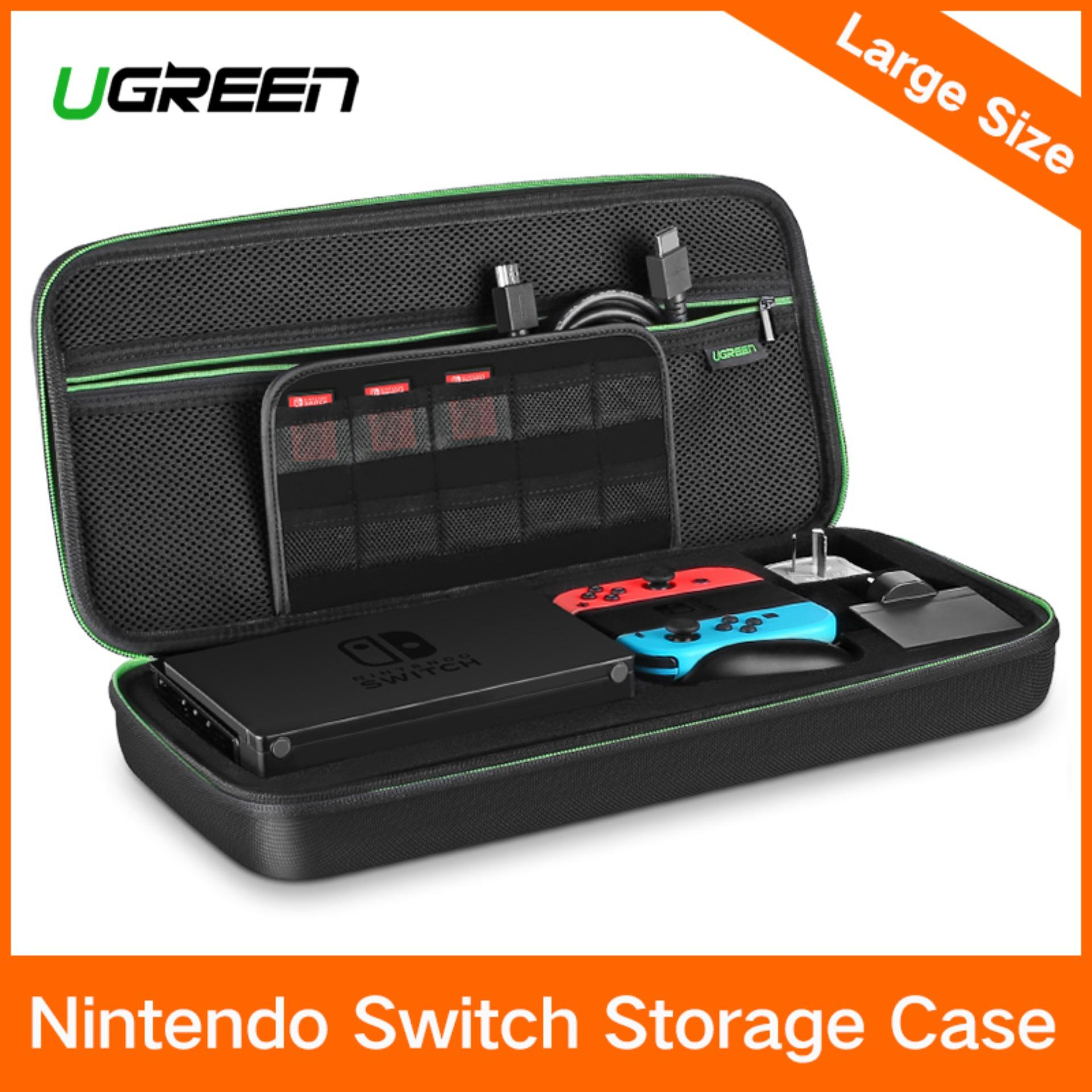 Ugreen Shockproof Case For Nintendo Switch Travel Carrying Case Bag Pouch With Carved Eva Liner, For Nintendo Switch Console, Ac Wall Charger, Grip And Joy-Con, 10 Games Cards, Strapes-Large Size - Intl By Ugreen Flagship Store.