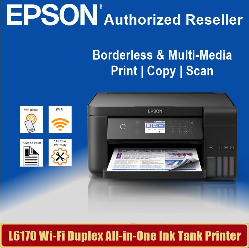 [Singapore Warranty] Epson L6170 Business Wi-Fi Duplex All-in-One Ink Tank  Printer with ADF Epson 6170 L 6170 Singapore