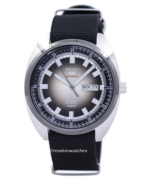 Seiko 5 Sports Turtle Automatic Men's Black Nylon Strap Watch SRPB23K1