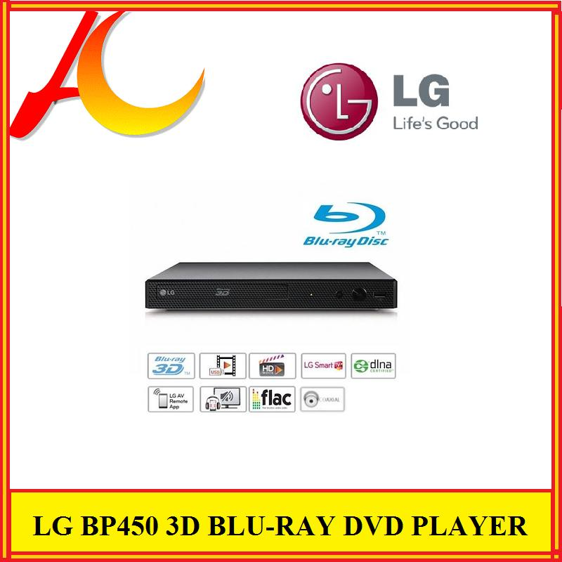 LG BP450 SUPER COMPACT (27 CM) 3D Blu-ray Disc Player with LG Smart  MULTIROOM Wi-Fi Music Flow Remote