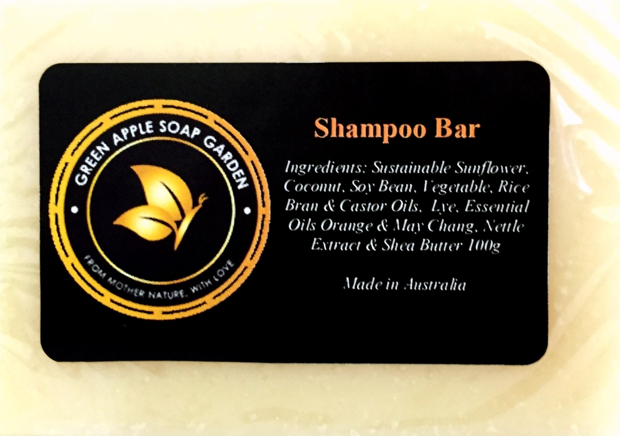 Handmade Shampoo Bar Soap Natural Ingredients, Luxurious And Refreshing. Made In Australia By Blue Sand In Jungle.