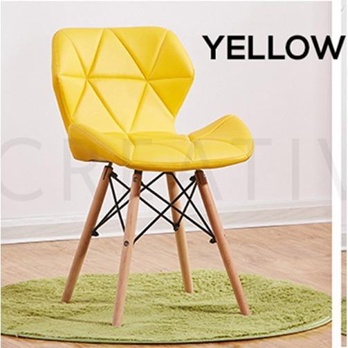 UniqHome European Modern Leather Chair (Medium Mini size)
