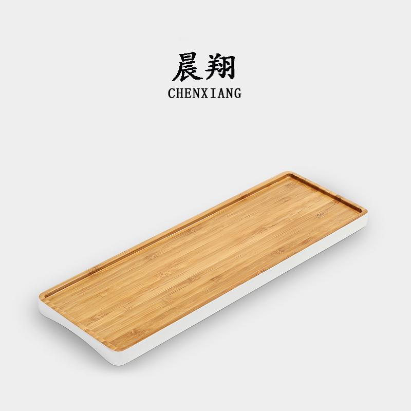 Chen Xiang Creative Japanese Style Bamboo Kung Fu Tea Tray Tea Set Drainage Simple Dry Foam Tea Tray Tea Sets Tea Pitcher Rectangular By Taobao Collection.