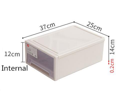 Stackable Drawer Storage Box Cabinet Wardrobe Plastic box Organizer Furniture
