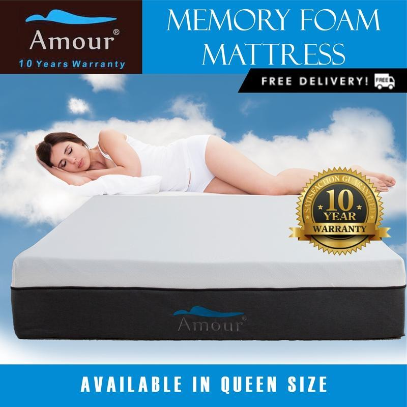 Amour® Queen Size Memory Foam Mattress Free delivery Best in Lazada