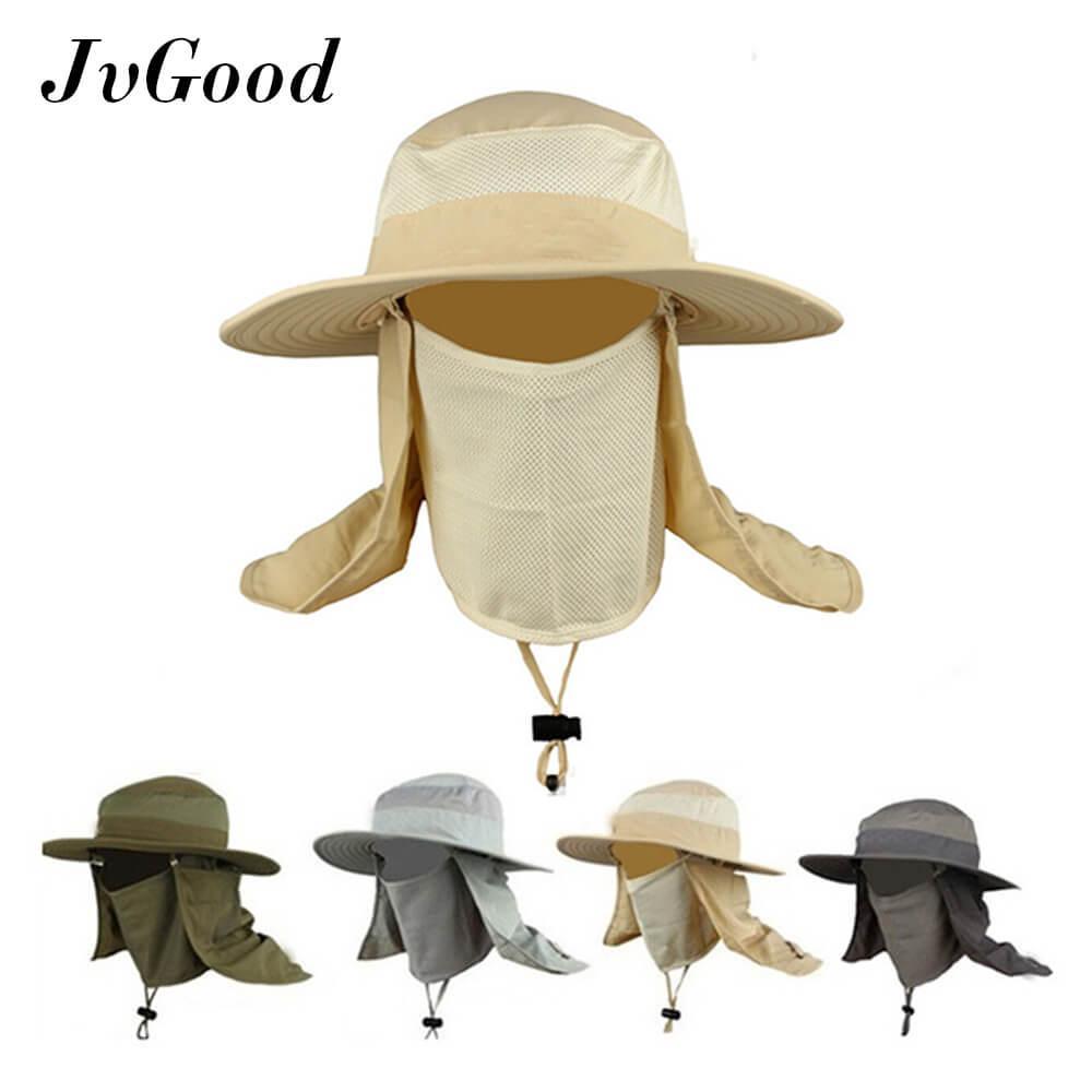 72425ae8 JvGood Fashion Summer Outdoor Sun Protection Fishing Farmer Gardener Cap  Neck Face Flap Hat Wide Brim