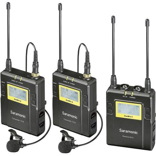 Best Buy Saramonic Uwmic9 Rx9 Tx9 Tx9 96 Channel Digital Uhf Wireless Dual Lavalier Mic System 514 To 596 Mhz