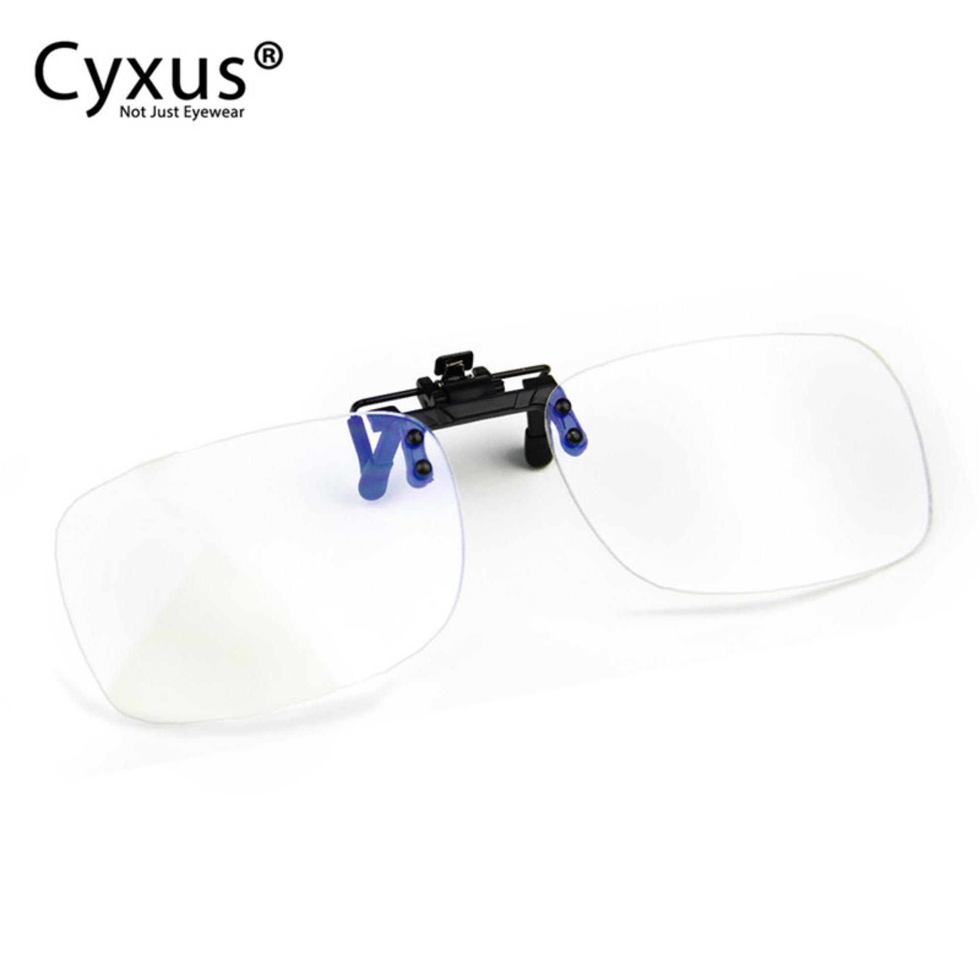 Low Price Cyxus Clip On Clear Lens Blue Light Blocking Glasses Anti Eye Fatigue Computer Gaming Eyewear