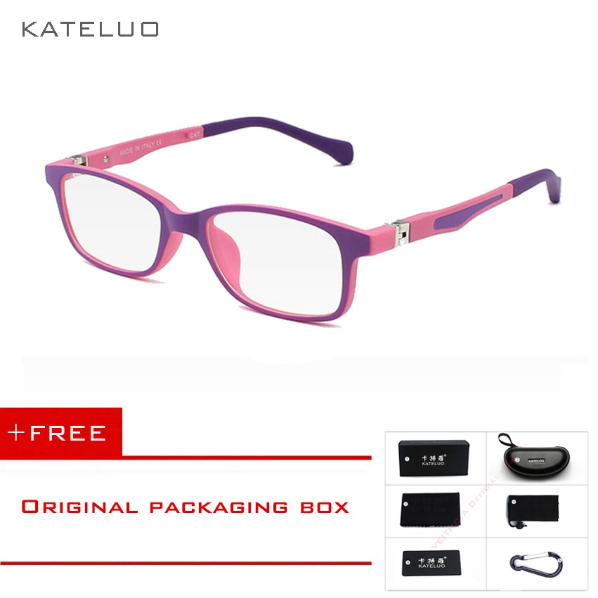eaae4a9839 Singapore. KATELUO Children Anti Computer Blue Kids Eyeglasses Glasses Frame  1021