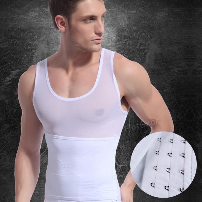 1eb6d1240 Body Shaper Vest - Mens Shapewear Slimming Undershirt Vest Shirt Abs Abdomen  Men Belly Shape Ware