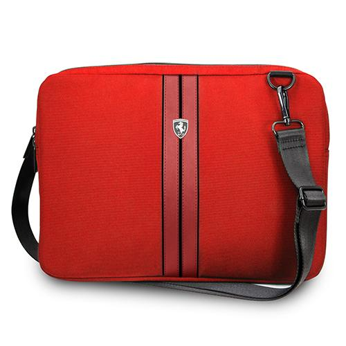 FERRARI URBAN COLLECTION - COMPUTER SLEEVE 15 WITH STRAP - RED