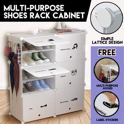 Creative Storage Multi-purpose Shoes Rack Cabinet Cubes Stackable DIY Modular