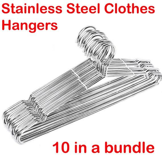 Stainless Steel Clothes Hangers 42 Cm In Length And 4mm In Thickness By Neattiluxe.
