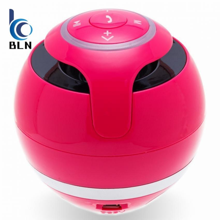 Cheapest Bln Gs009 Wireless Portable Mini Fm Ball Shaped S Bass Stereo Hands Free Bluetooth Speaker W Mic Led Light Usb Ball Surround Pink