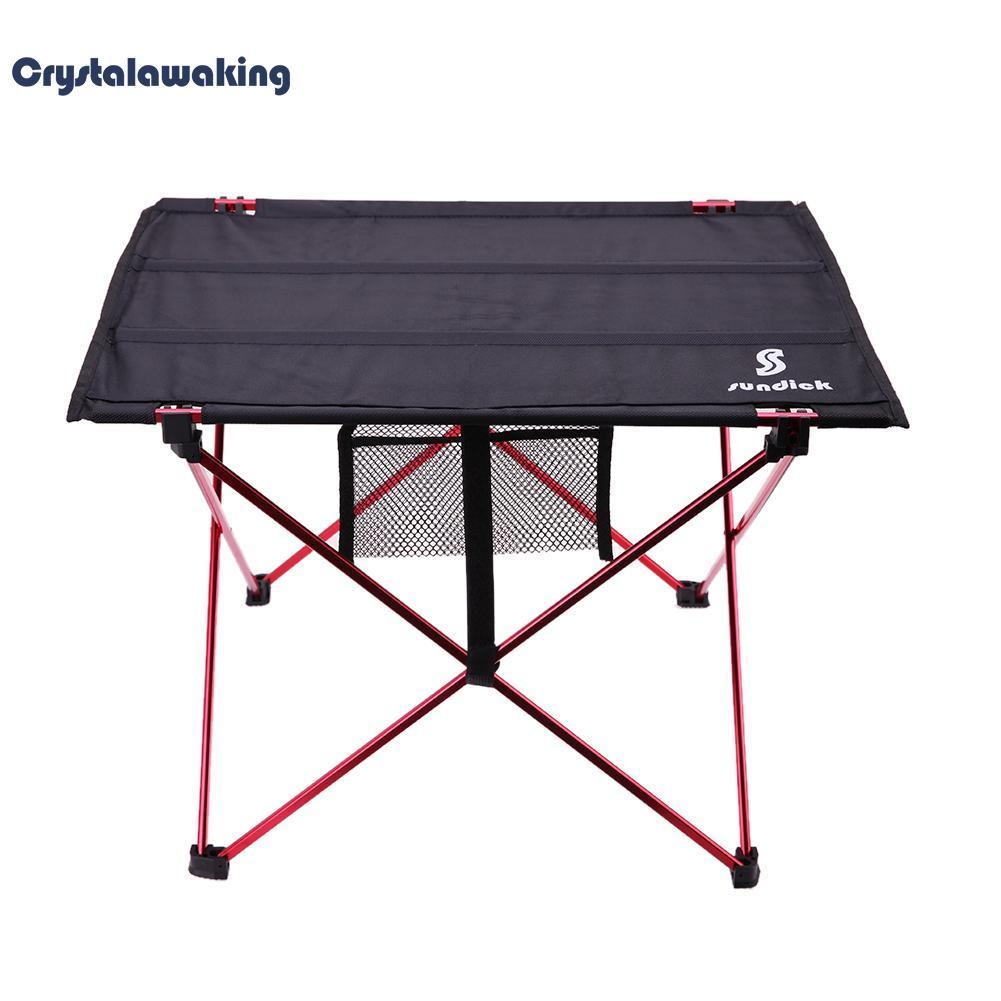 Aluminium Alloy Travelling Camping Picnic Barbecue Folding Table Outdoor(black) - Intl By Crystalawaking.