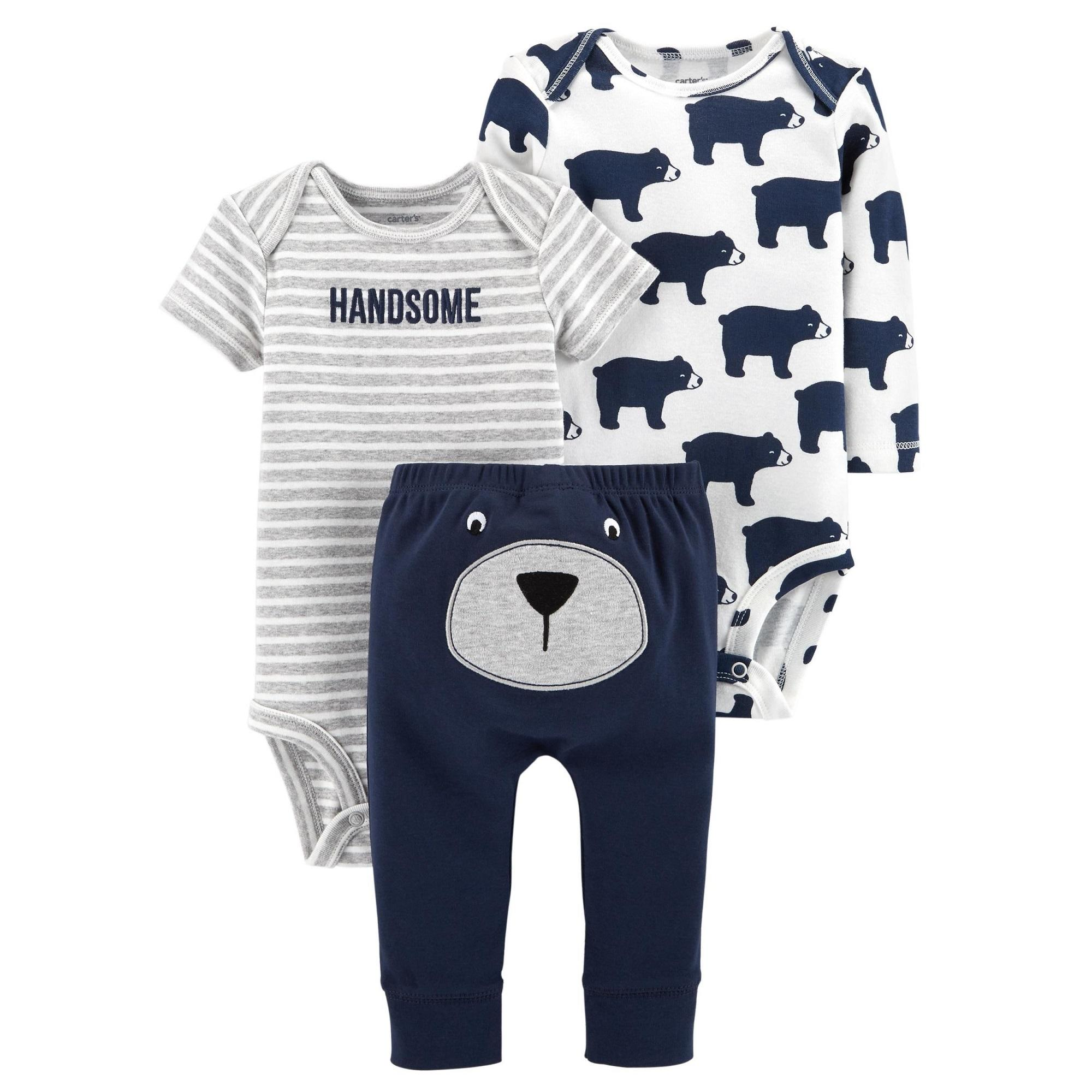 Caby133 Carters Baby Boys 3-Piece Little Character Set - Polar Bears By Little Gems.