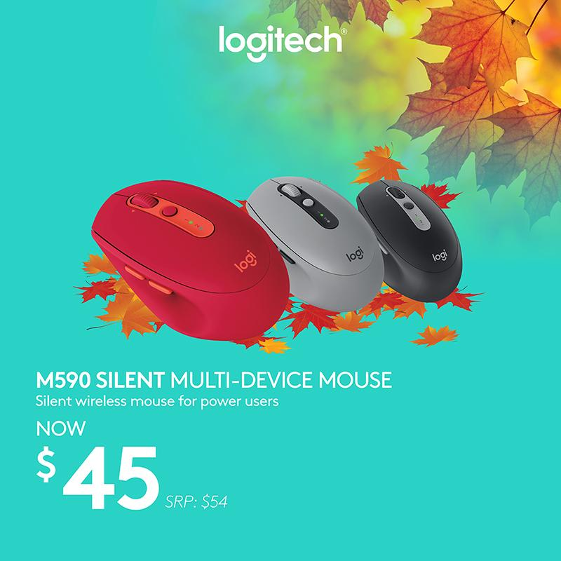 Logitech M590 Graphite Tonal Multi-Device Silent Wireless Mouse With Logitech Flow #Autumn2018Sale