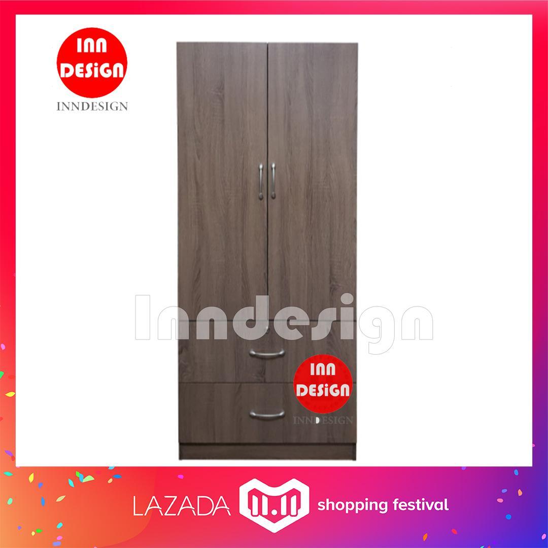 Din 2 Doors Wardrobe w/ 2 Drawers (Big)