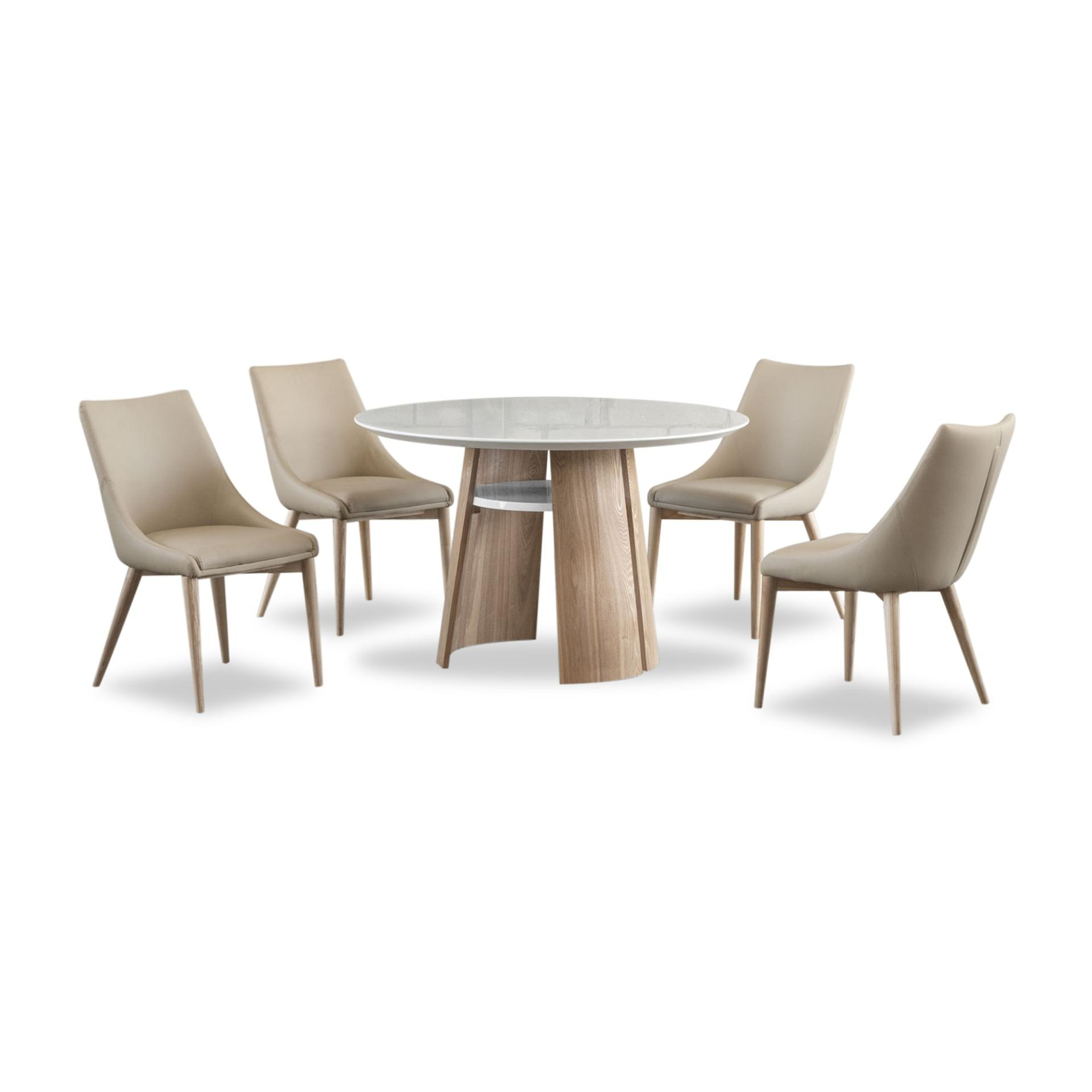 Sara Marble Top Dining Table (FREE DELIVERY)(FREE ASSEMBLY)
