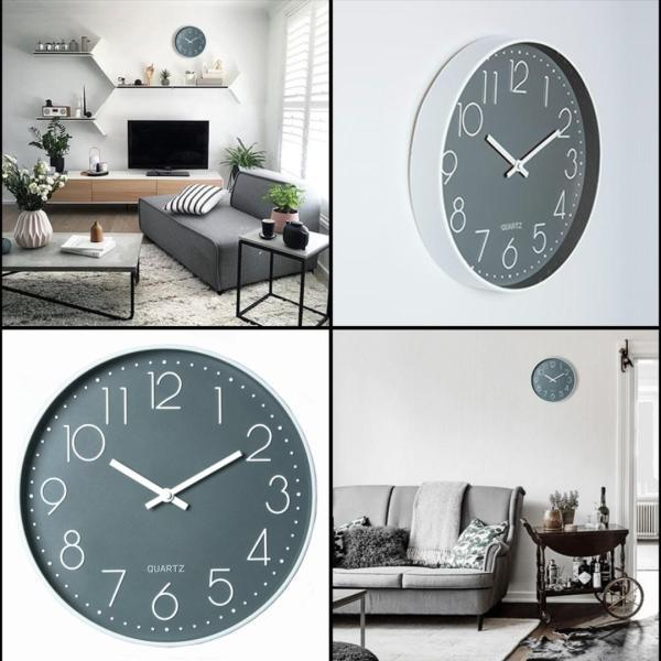 DESIGNER SILENT WALL CLOCK DECOR HOME DIGITAL DIY DECORATION WATCH CLOCK WALL Non Ticking TIMER WOODEN
