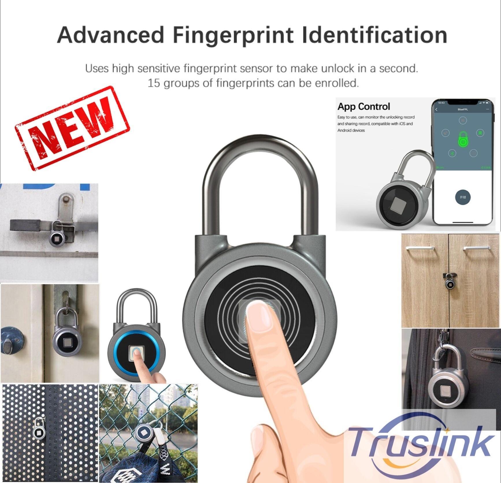 [SG Seller] Waterproof Smart Keyless Bluetooth Padlock Finger print Sensor