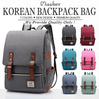 MISSHER ★Unisex Korean Version Shoulder Backpack School Bag Unisex Men Women Bag BPB-CB04N
