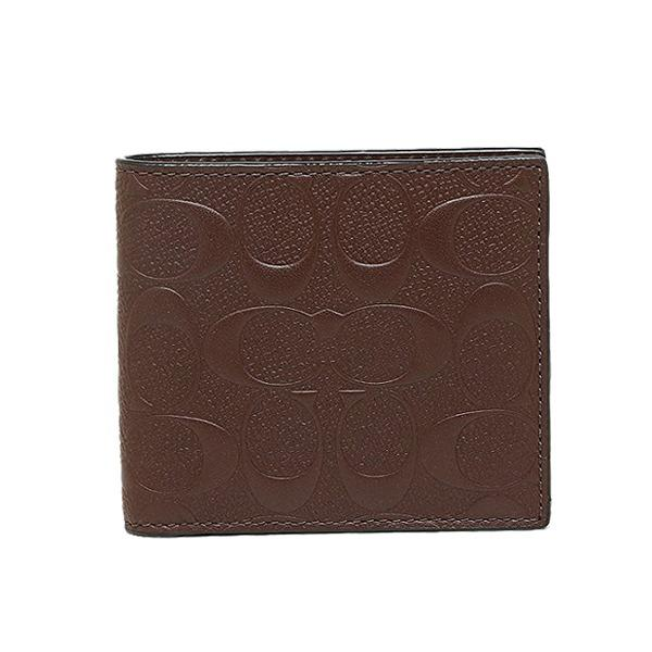 Wholesale Coach Mens Coin Wallet In Signature Crossgrain Leather F75363 Mahogany
