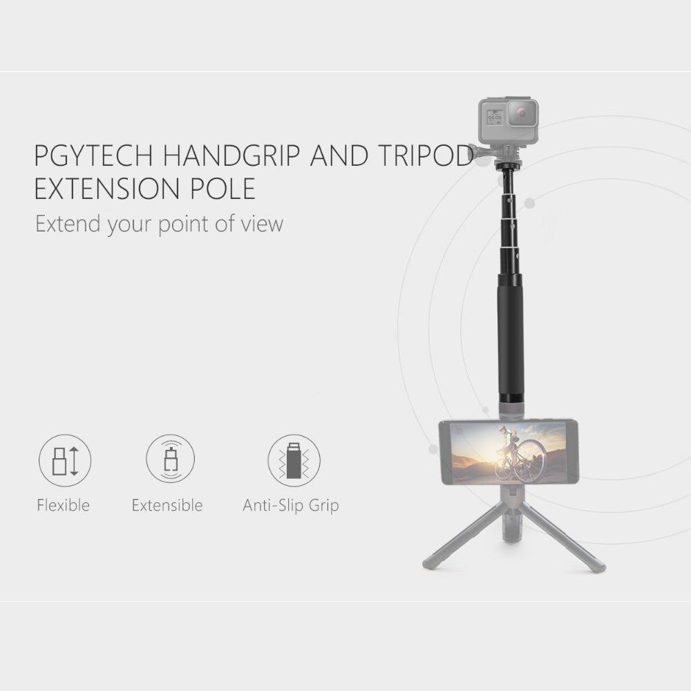 Buy Pgytech Hand Grip And Extension Pole Selfie Stick Monopod For Gopro Hero6 Hero5 Hero4 Sjcam Xiaomi Yi Action Camera Accessories Pgytech Original