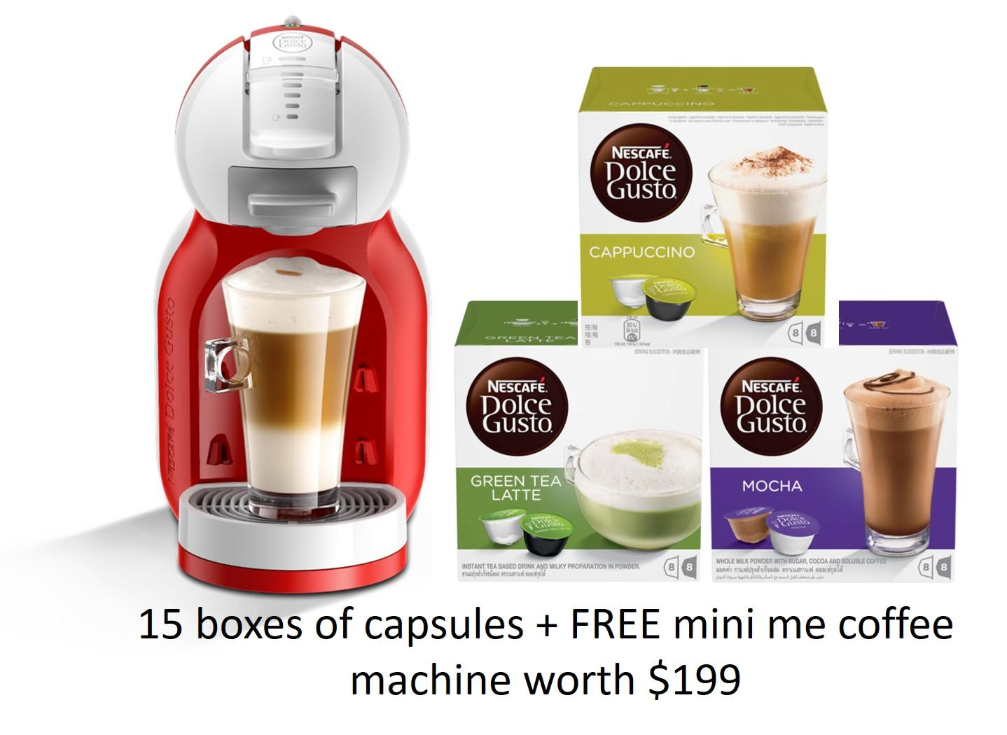 Retail Price Special Bundle 15 Nescafe Dolce Gusto Capsules Free Ndg Mini Me Machine