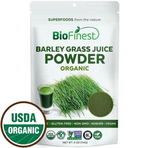 Buy Biofinest Barley Grass Juice Powder - 100% Pure Freeze-Dried Antioxidant Superfood - USDA Certified Organic Kosher Vegan Raw Non-GMO - Boost Energy & Immunity - For Smoothie Beverage Blend (114g) Singapore