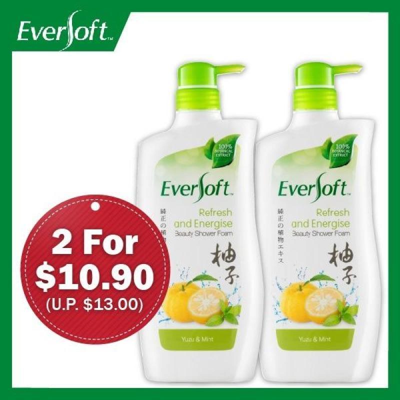 Buy Eversoft Shower Foam Bundle (Refresh & Energise - Yuzu and Mint) 800ml x 2 Singapore