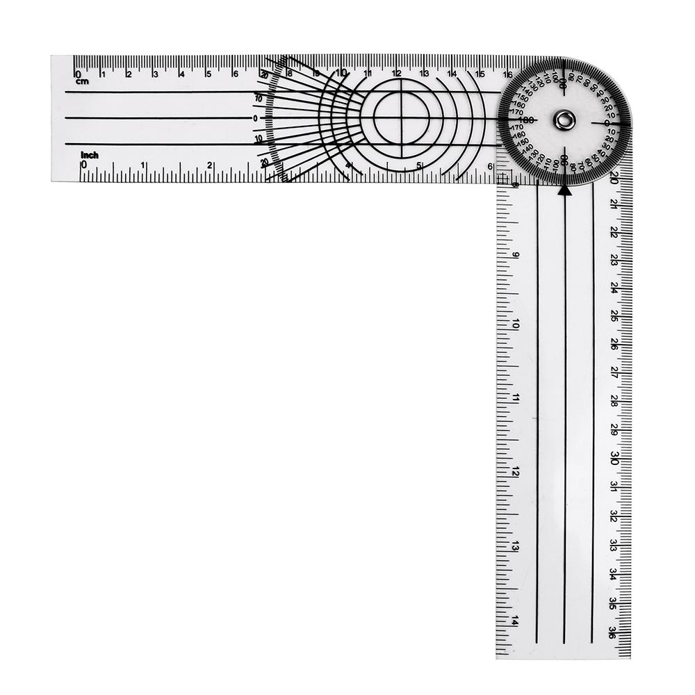 Protractor Circle Stainless Steel Clear Scale Lightweight Practical Measure Tool Drawing Professional Portable Ruler Angle Meter Multifunction Accurate