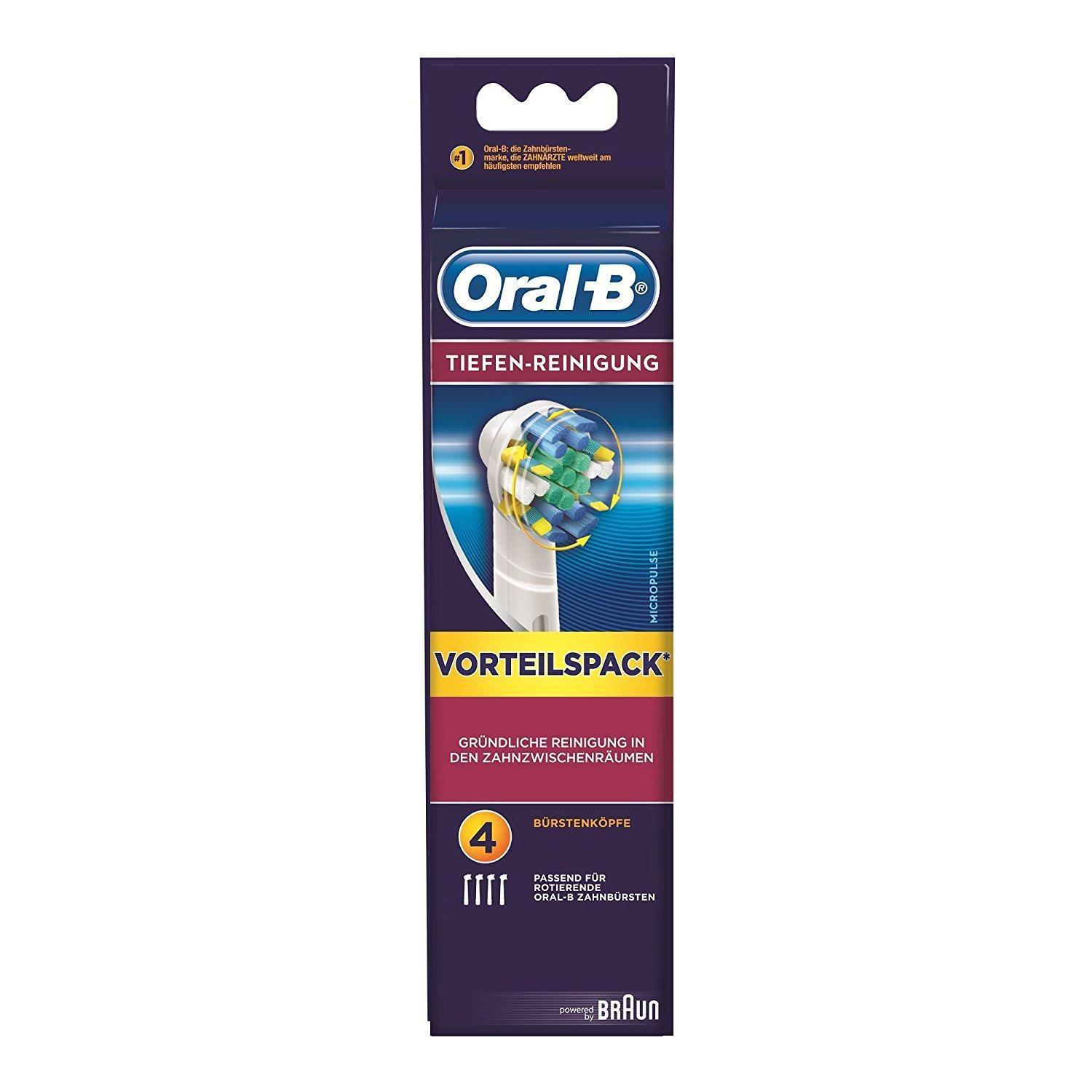Oral-B Deep Cleaning Replacement Heads Pack Of 4 By Sterne Mond Co.