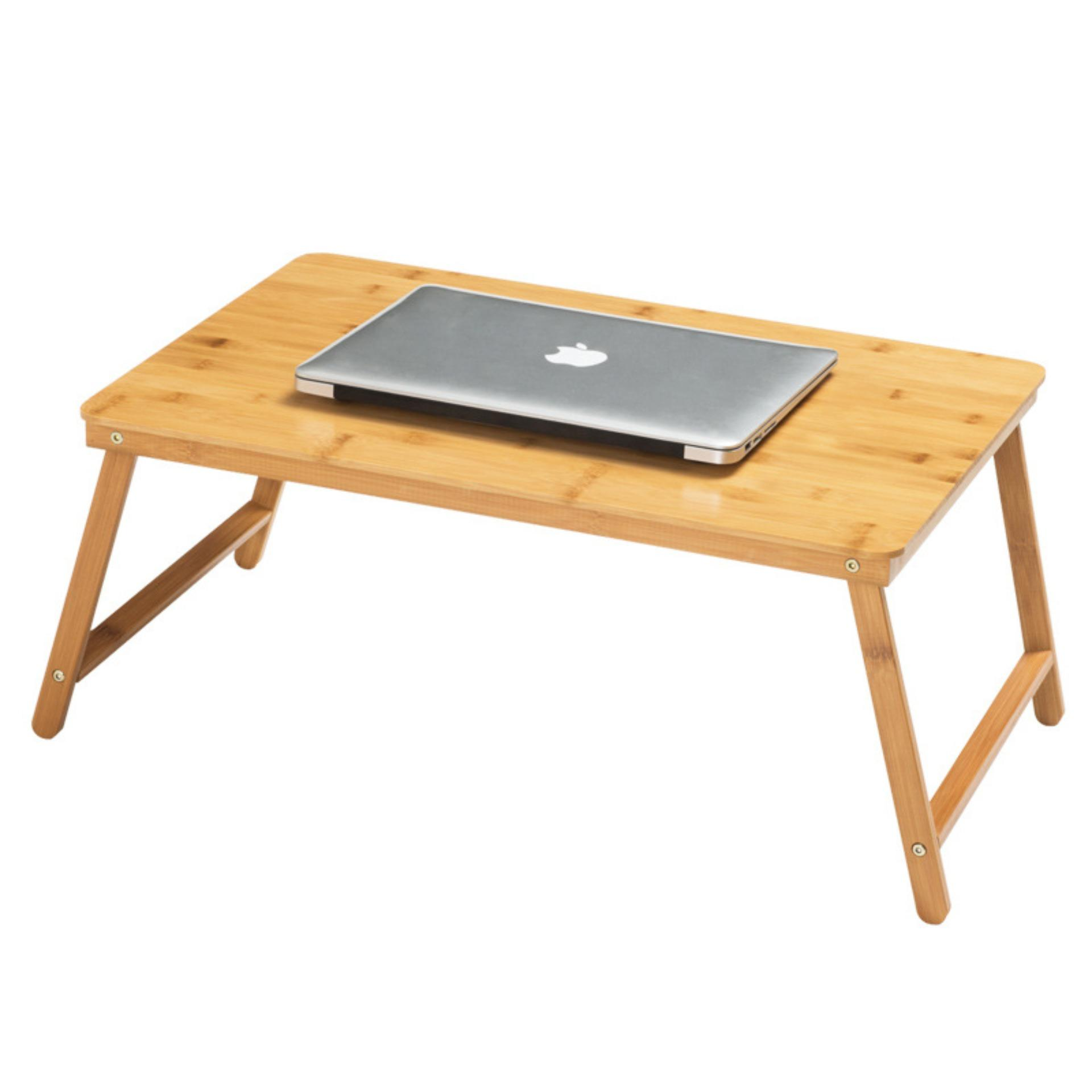 Norzy Foldable Bamboo Bed Side Table Laptop Notebook Table Kids Study Desk By Norzy Singapore.