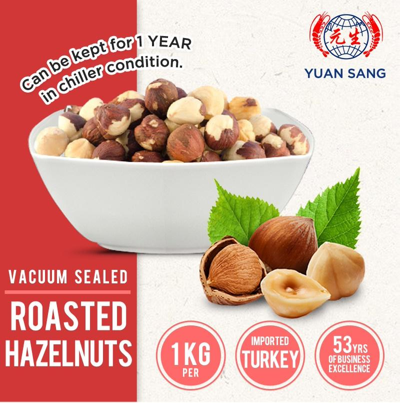 Value For Money!! 1 Kg Hazelnuts (roasted/ Unsalted/ Fresh/ Healthy Snacks/ Party Snacks) By Yuan Sang.